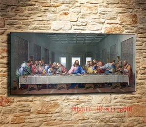 Wholesale Jesus Last Supper Leonardo Da Vinci Canvas Pieces Home Decor HD Printed Modern Art Painting on Canvas Unframed Framed