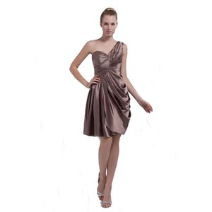 Wholesale 2018 Special Design One Shoulder Ladies Party Dress Short Length Competitive Price European American Style Dress
