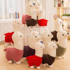 Wholesale Llama Arpakasso Stuffed Animal 28cm 11 inches Alpaca Soft Plush Toys Kawaii Cute for Kids Christmas present 6 colors C5129