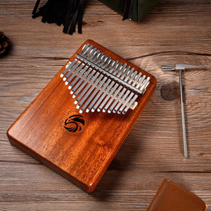 Wholesale mahogany wood resale online - 17 Keys Finger Thumb Piano Kalimba Mbira Mahogany Wood Calimba Acacia Carolinba Thumb Piano Set Kalimba Set Keyboard Instrument