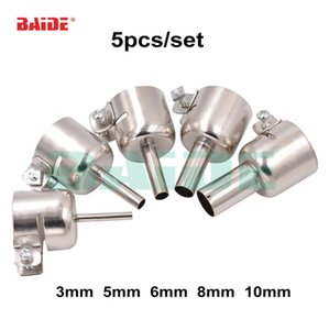 Wholesale hot nozzle resale online - 5pcs nozzle mm Set for D Soldering station Hot Air Stations Gun Nozzle set