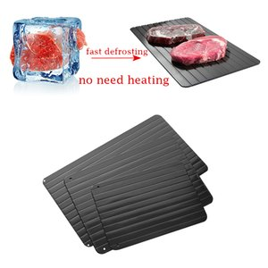 Wholesale New Magic Metal Plate Defrosting Tray Safe Fast Thawing Frozen Meat Defrost Kitchen Tool Size S L