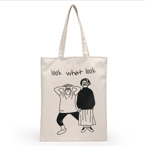 Wholesale High Quality Women Men Handbags Canvas Tote bags Reusable Cotton grocery Shopping Bag Webshop Eco Foldable Shopping Cart Trolley Free Ship