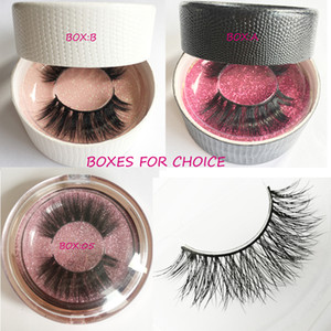 Wholesale layers hair styles resale online - 011 private logo and package box natural style mink hair lashes Mink Hair sexy Eyelashes Extension d soft multi layer handmade eyelashes