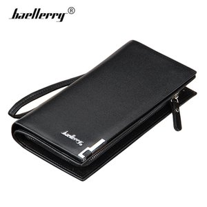 Wholesale Luxury Mens Wallets Brand Male Purse Money Bag Leather Men Clutch Wallet Male Wrist Strap Baellerry Big Phone Wallet Carteira