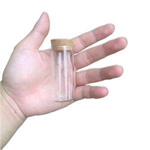 30*70mm 30ml Glass Vials Jars Test Tube With Cork Stopper Empty Glass Transparent Clear Bottles 50pcs lot on Sale