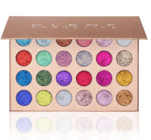 High Quality brand CLEOF Cosmetics Glitter Eyeshadow Palette 24 Colors Makeup Eye Shadow Palette fast shipping