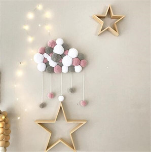 Baby Bedroom Wall Hanging Ornaments Ball top Home Wall Decorative Baby Bed Pendant Tassel Pearl Pendant Photo Props KHD01 on Sale