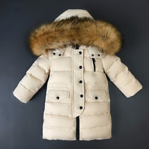 2-14 Yrs High quality long youth children winter duck down jacket for girl clothing boy coat parka kids clothes -30degrees