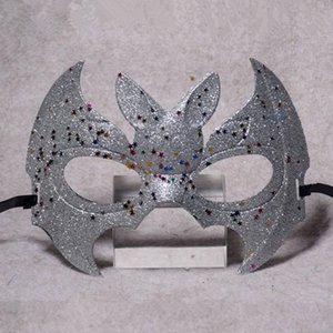 Wholesale Halloween Half Face Batman Girl Prom Party Mask Vampire Bat Multicolor Mask