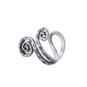 Smart style nose rings ear clips earrings with non-perforated 925 sterling silver handmade earring nose ring for woman and man