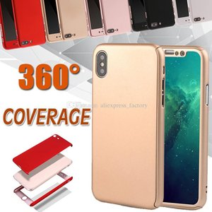 Wholesale slim glasses case resale online - 360 Degree Case Full Body Shockproof Slim Hard Full Cover With Tempered Glass For iPhone XS Max XR X Plus Samsung Note S9 S8 S7 S6