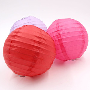 New Design 20pcs 4 ''10cm Lantern Paper 18colors Chinese Round Paper Lantern Lamp Garden Wedding Party Decoration