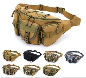 Men's sports outdoor large-capacity waterproof tactical pockets Cycling travel running multi-function chest bag multi colors free shipping