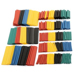 Wholesale 328pcs 2:1 Polyolefin Halogen-Free Heat Shrink Tube Sleeving 5 Color 8 Size