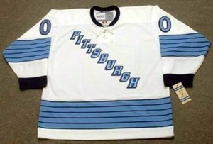 "PITTSBURGH Men Women Youth 1967 CCM Vintage Turn Back ""Customized"" Hockey Jersey Goalie Cut Stitched Top-quality Any Name Any Number on Sale"