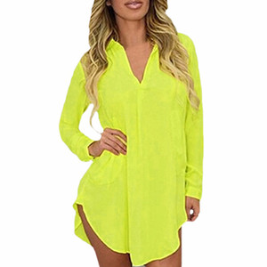 Wholesale-6XL Sheer Chiffon Blouse 2020 Plus Size Women Clothing Long Sleeve Autumn Shirt Casual Loose Oversized Top Chemise Femme