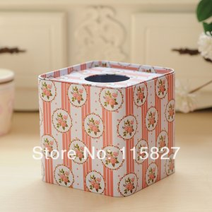 Free shipping!Flower design square Facial Paper Case Napkin Holder Metal Tissue Box Square Shape metal case New Design