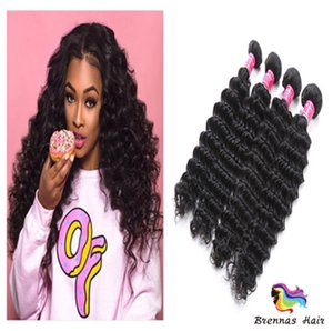 Wholesale 2018 Top Selling Bundles Unprocessed hair bundles Deep Wave Brazilian Human Hair Extension With for black woman