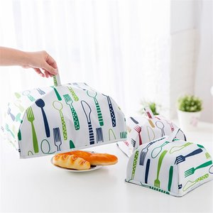 Wholesale Portable Home Insulated Food Cover Dustproof Foldable Rice Covers With Aluminu Foil Oxford Fabric Table Kitchen Accessories zh2 YY