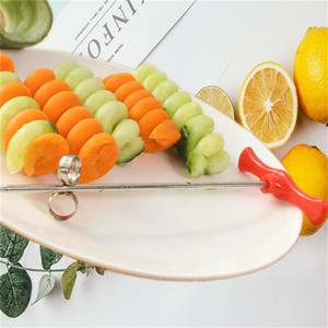 Wholesale stainless steel vegetable spiral slicer for sale - Group buy Creative Stainless Steel Manual Screw Spiral Slicer Vegetable Cucumber Carrot Potato Spiral Cutter Kitchen tools Accessories