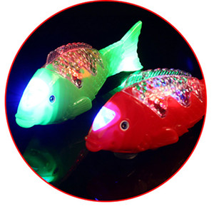 Wholesale LED Swing Fish Light Glowing colorful blinking lamps as Children s Day kid s boys toys gifts for party decorations props