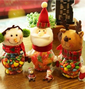 Wholesale hot Christmas decorations creative Christmas candy jar kindergarten children the candy bags gift cans