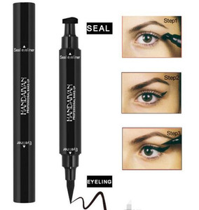 Hot new Liquid Eyeliner Stamp Pencils Long Lasting waterproof Eye Liner stamp seal double-ended with black color