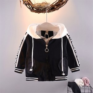 Wholesale 2018 Hot Sale Baby Boys Girls Clothes Autumn Winter Coats Letters Hooded Zipper Casual Cotton Jacket for Girls Boys