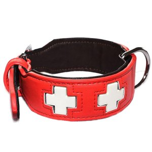 Wholesale Adjustable PU Leather Luminous Collar For Dogs Durable Cross Style Night Glowing Dog Collar Light Pet Accessories S M L