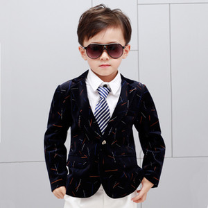classical boy's blazer coat gentleman style fashion tops blazers for 3-10years boys kids children outerwear tops on Sale