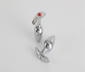 Wholesale butt plugs jeweled for sale - Group buy Brand new Unisex Butt Toys Plug Anal Silver Insert Stainless Steel Metal Plated Jeweled Sexy Stopper Anal toys For Women