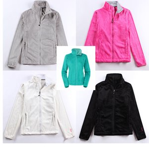 Wholesale women warmer fleece jackets winter coat long sleeve hoodie more colours