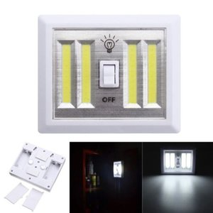 Wholesale 8W Battery Operated LED Night lights COB LED Cordless Light Switch Under Cabinet Shelf Closet Night light Kitchen RV Boat