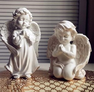Wholesale resin Love Cupid small Angel statue home decor crafts room decoration ornament wedding decoration Fairy figurine dolls for girls