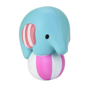 Jumbo Cute Elephant Play Ball Squishy Scented Cream Slow Rising Squeeze Toys For Children Adults Relieves Stress Anxiety Decor