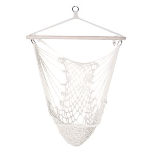 Wholesale Camping Hammock Cotton Hanging Rope Air Sky Chair Swing beige Color