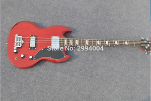 Wholesale High quality S G red string bass wine red string electric bass The factory Can be modified to customize