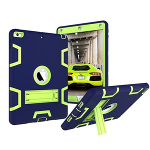 Shockproof Case for Apple iPad 9.7 inch 2017 2018 New Kickstand Kids Silicone Hard Full Body Protective Case Cover for Min 1 2 3 4 5 6 Air