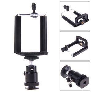 Wholesale For Camera Tripod LED Light Flash Bracket Holder Mount Adapter Cradle Mini Tripod Ball Head with Phone Holder