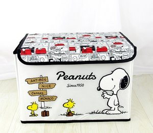 Wholesale 2018 new fashion Snoopy storage bag Oxford cloth cartoon embroidery printing box folding portable storage box storage box wash bag