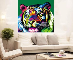 Wholesale tiger abstract oil paintings for sale - Group buy Framed quot Tiger Abstract quot High Quality genuine Hand Painted Wall Decor Animal Art Oil Painting On Quality Canvas Multi sizes Available FP01