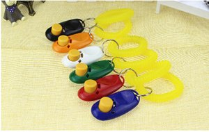 Wholesale Dog Clicker Pet Training Click Portable Dog Button Clickers Puppy Training Trainer Obedience Aid Wrist Strap Guide