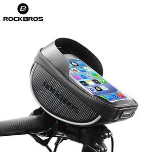 Wholesale ROCKBROS MTB Road Bike Front Bag Touch Screen Bicycle Top Tube Frame Handlebar Bag inch Cycling Pouch Cellphone