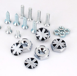 Wholesale Union Jack England Flag British Flag Car Accessories Thread License Plate Frame Bolts Universal Screws Chrome Car Styling