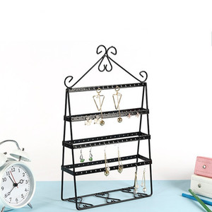 Wholesale metal shelves for sale - Group buy Creative Jewelry Display Stand Solid Metal Earrings Holder Multifunctional Bedroom Dressing Table Accessories Storage Racks Hot Sale md XY