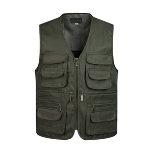 Man Vests Sleeveless Unloading Fashion Waistcoat With Many Male Coat Pockets Military Jacket Mens Tactical Vest Sweatshirts on Sale