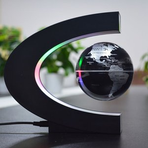 Wholesale Magnetic Levitation Floating Globe Map LED Table Lamp Home Decor Night Light Office Friend Birthday Children Gifts