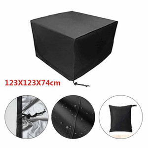 Wholesale outdoor furniture covers for sale - Group buy Outdoor Furniture Cover Square Black Waterproof Outdoor Garden DustProof Table Cover with Storage Bags for Garden cm