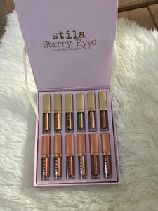 Wholesale NEW Hot Stila Eye For Elegance Set Starry Eyed Liquid Eyeshadow Vault Travel Makeup Glow Set Eye Cosmetics For Girls Colors DHL Gift